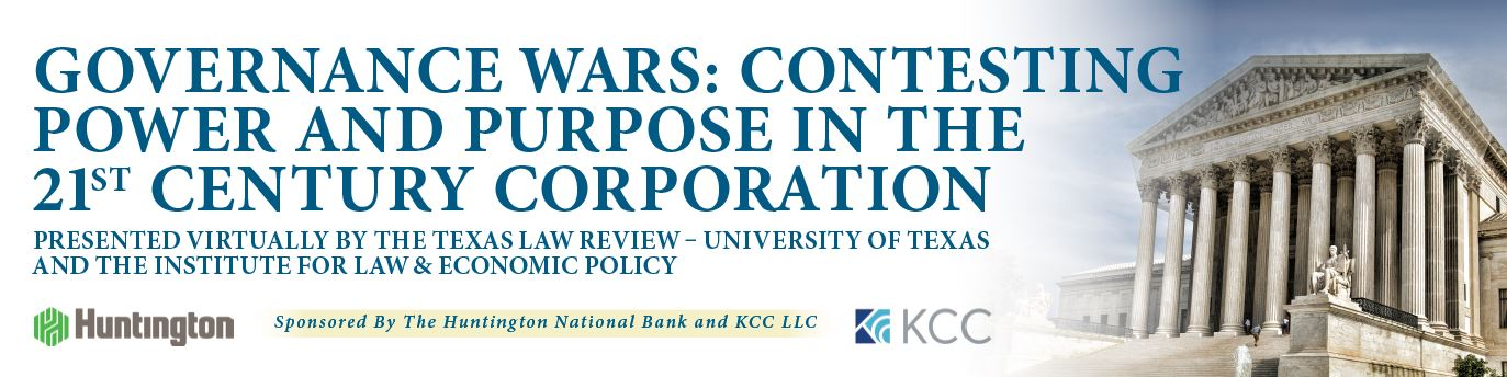 GOVERNANCE WARS Contesting Power and Purpose in the 21st Century Corporation